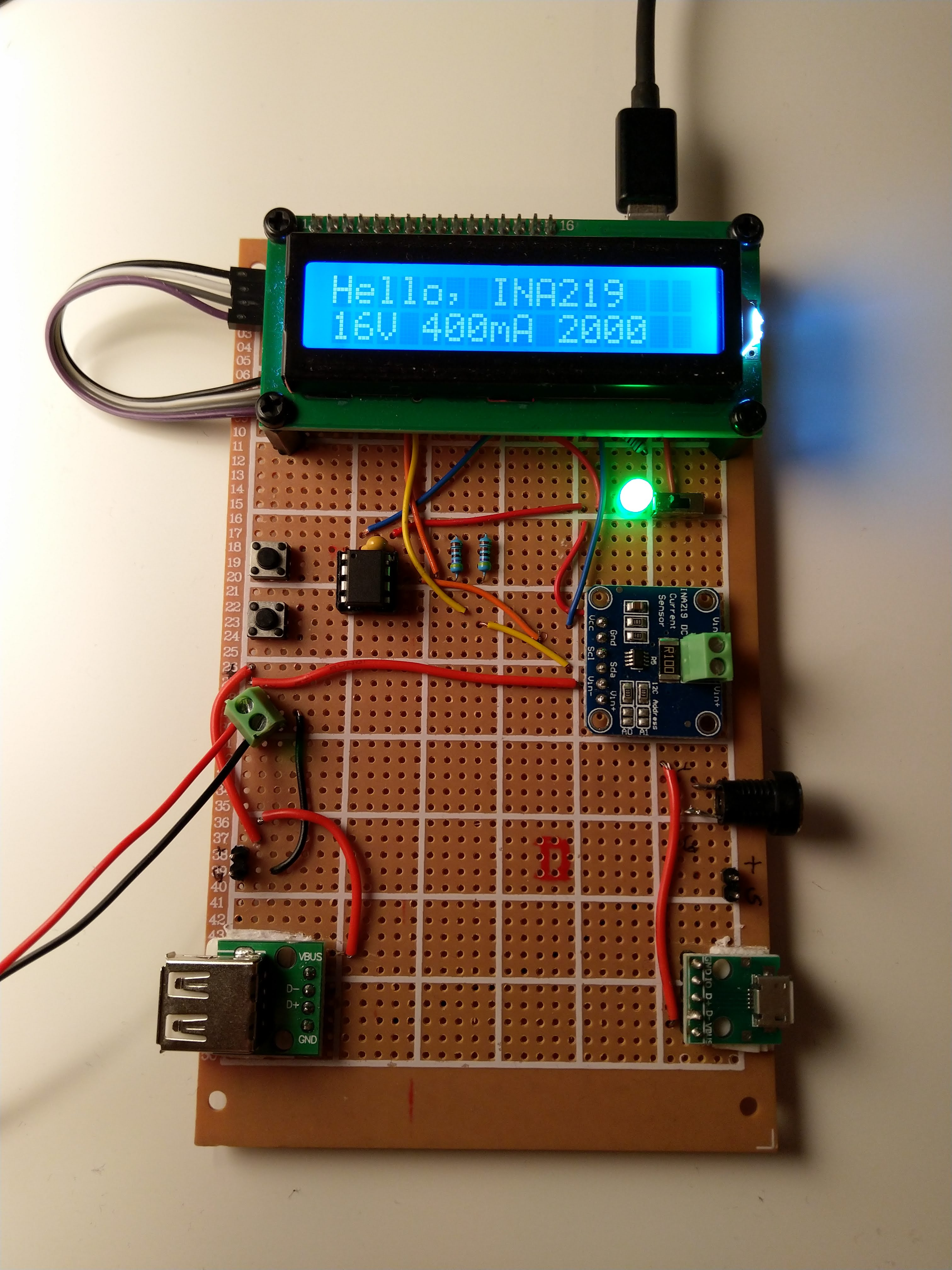 INA219+Attiny85 measurement unit