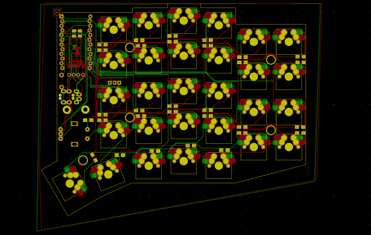 Sofle v2 PCB in KiCad